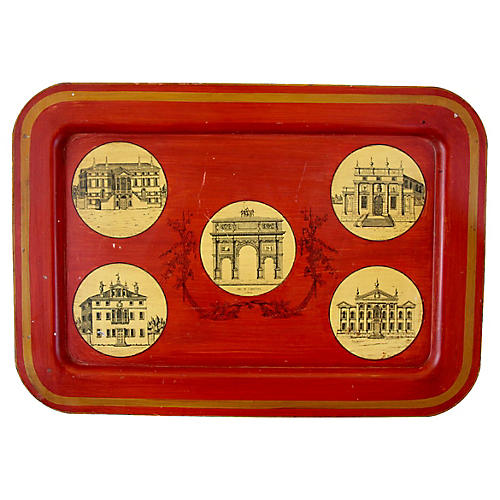 Mottahedeh Tole Architectural Tray