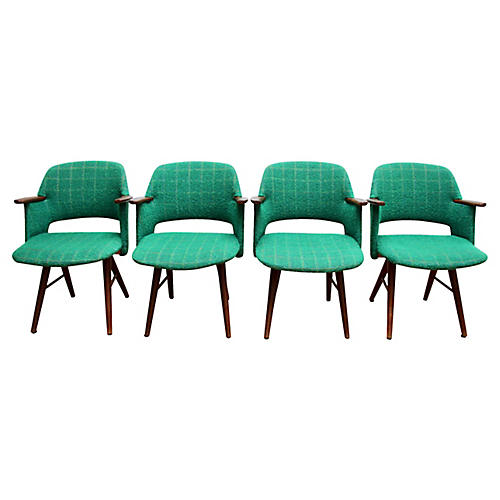 Midcentury Dutch Armchairs, Set of 4