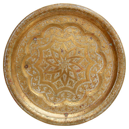 Hand-Etched Brass Tray