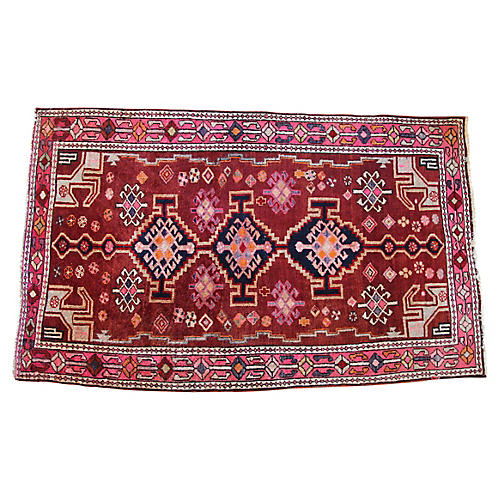"Persian Shiraz Rug, 4'7"" x 7'5"""