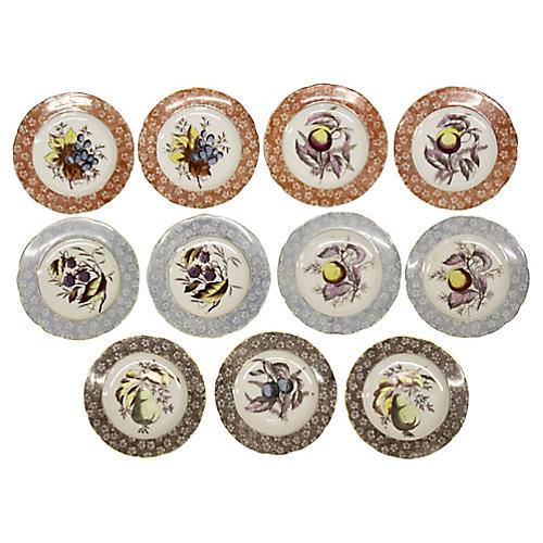 Antique Austrian Dessert Plates, S/11