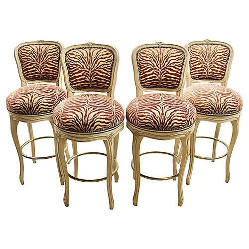 French Provençal-Style Barstools, S/4