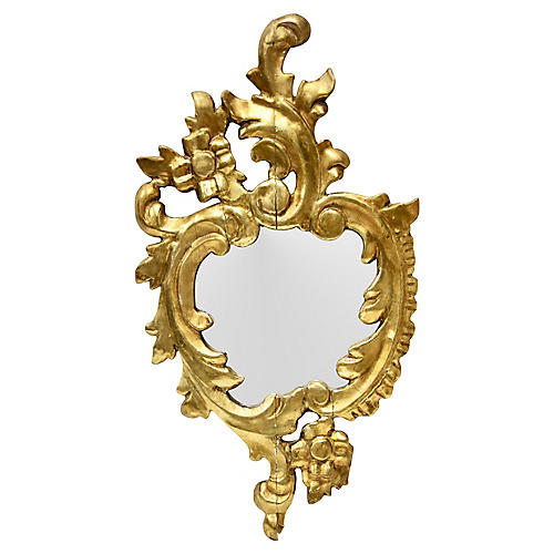 Italian Giltwood Accent Mirror