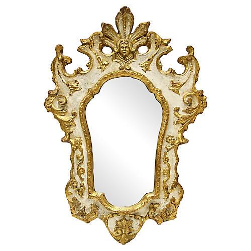 Florentine Italianate Giltwood Mirror