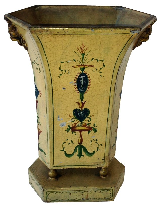 19th-C. French Tole Vase