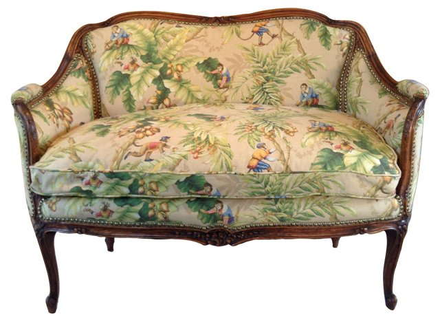 Antique French Upholstered Settee