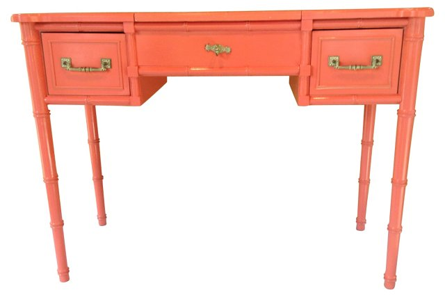 Pink Lacquered Vanity