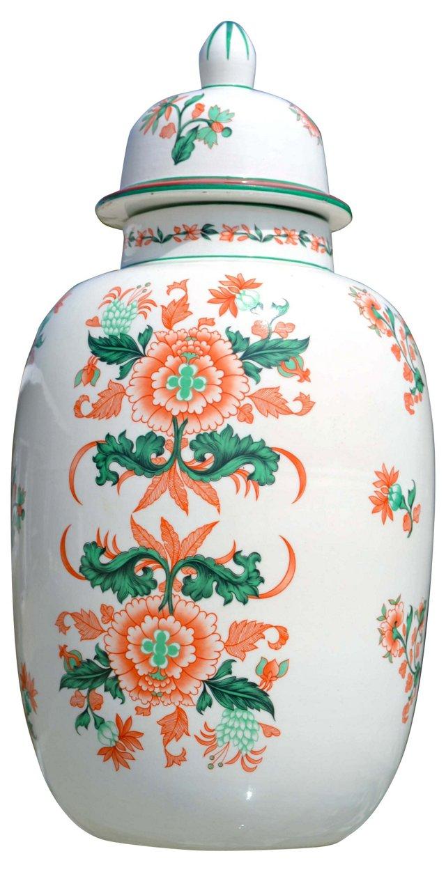Italian Porcelain Ginger Jar