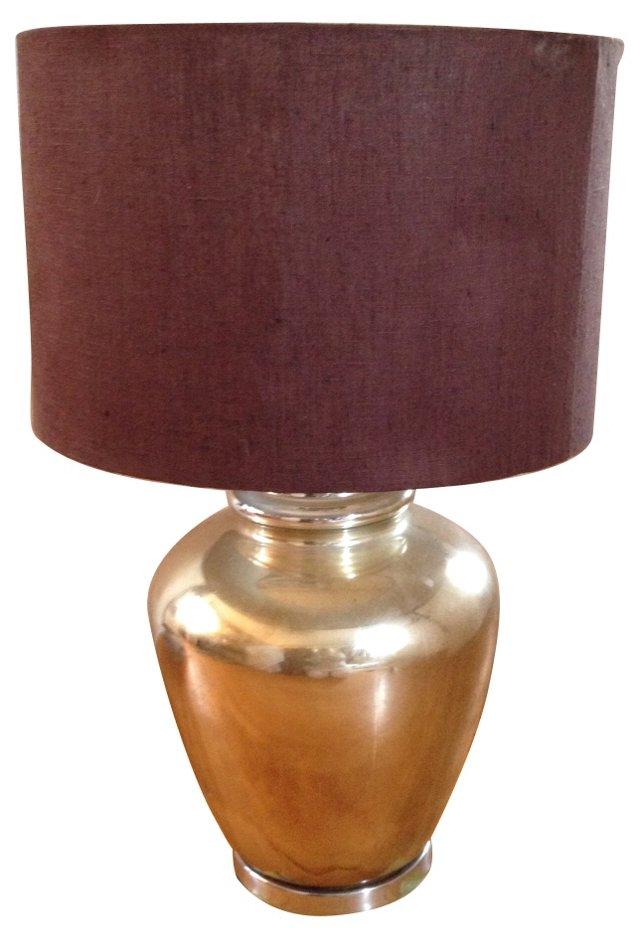 Gold Mercury Glass Lamp