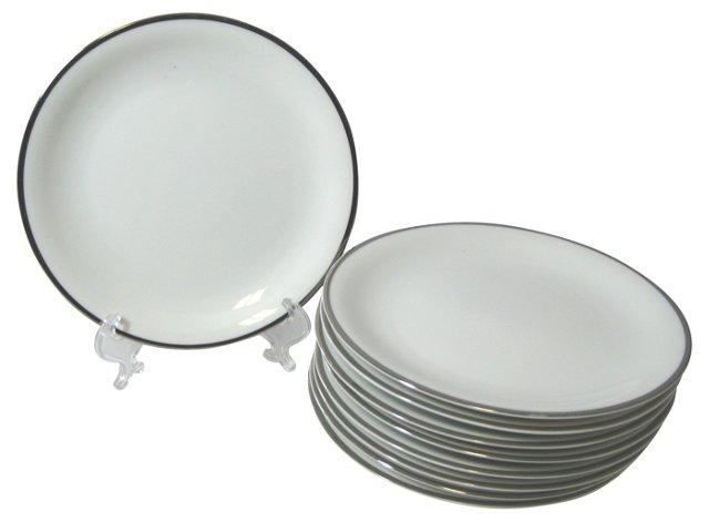 Noritake Dessert Plates, Set of 9