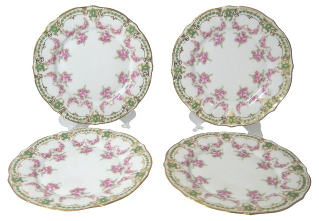 Elite French Luncheon Plates, S/4