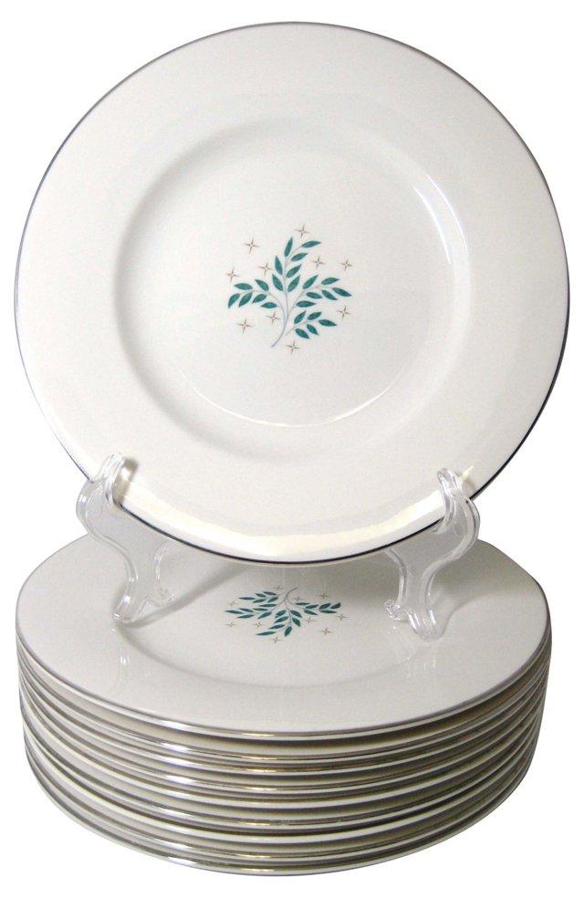 Lyric Dinner Plates, S/10