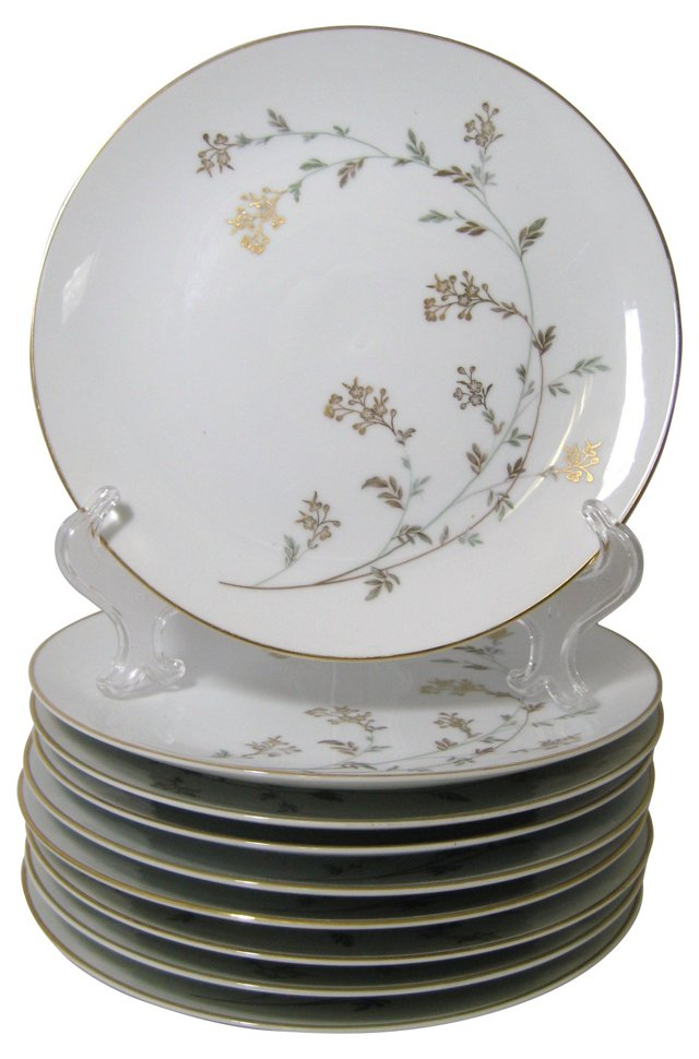 Noritake Andrea Lunch Plates, S/9