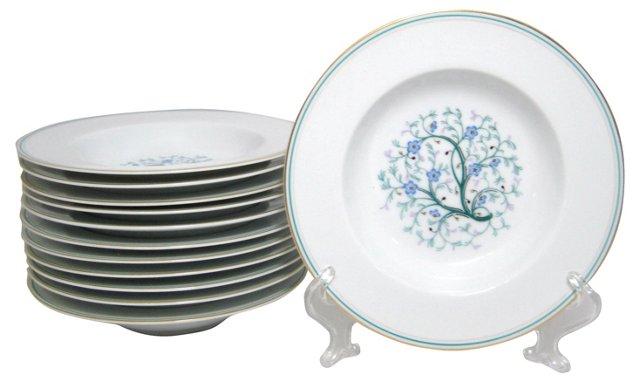 Noritake Granada Flat Soup Bowls, S/12