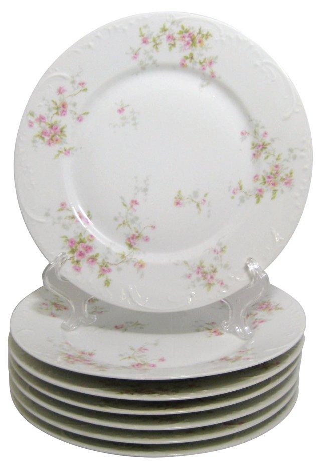 Theodore Haviland Dinner Plates, S/7