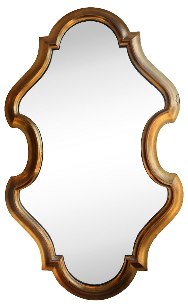 Hollywood Regency Gilt Mirror