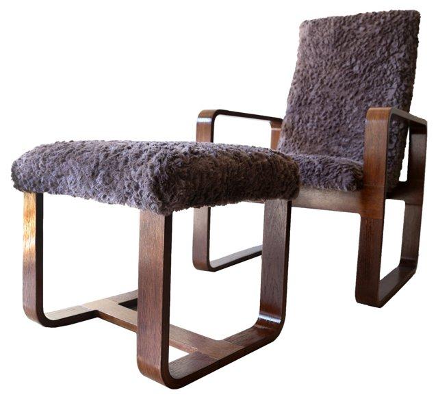 Thonet  Chair &  Ottoman