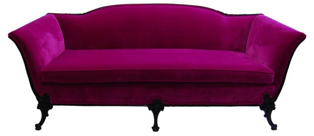 Fuchsia   Velvet Sofa
