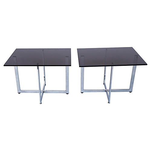 Baughman-Style Side Tables, S/2
