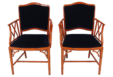 Chippendale-Style Chairs, S/2