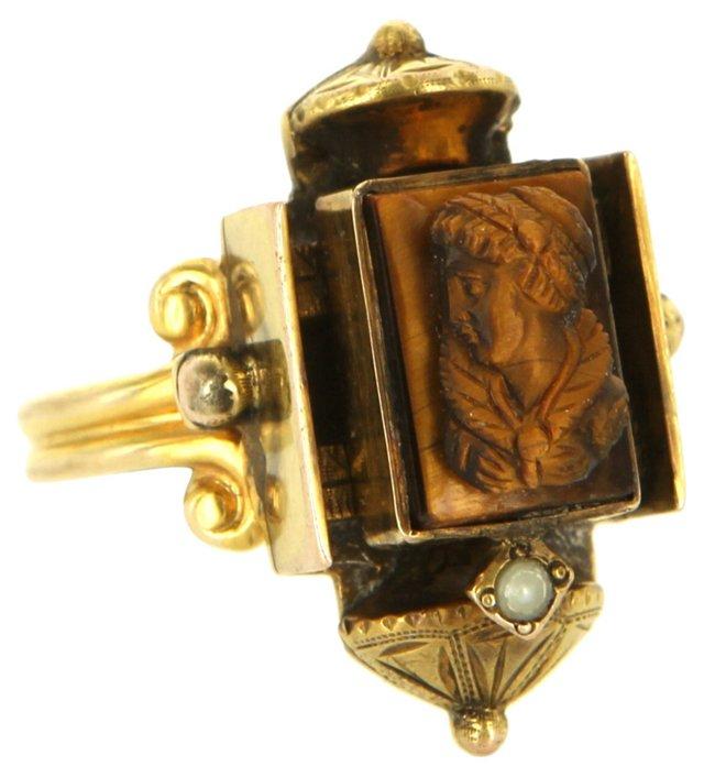 Antique Tiger's Eye Ring