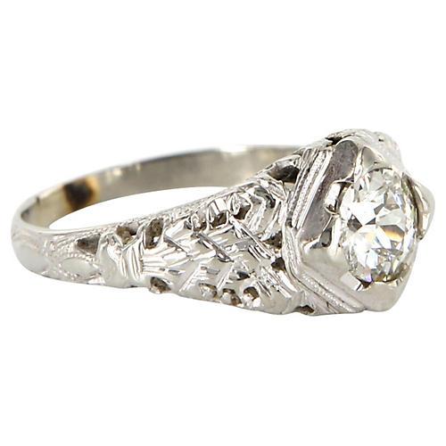 Art Deco Gold Diamond Ring