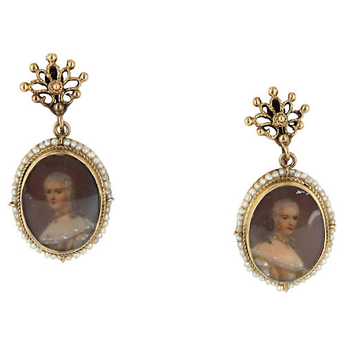 Portrait Drop Earrings