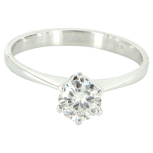 14K White Gold & Diamond Solitaire