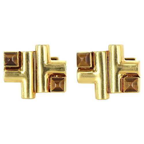 18K Gold Aldo Cipullo Cartier Cufflinks