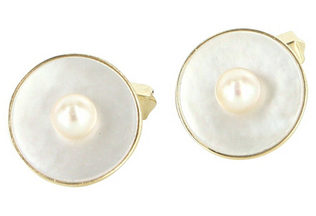 Mikimoto Men's Dress Cuff Links