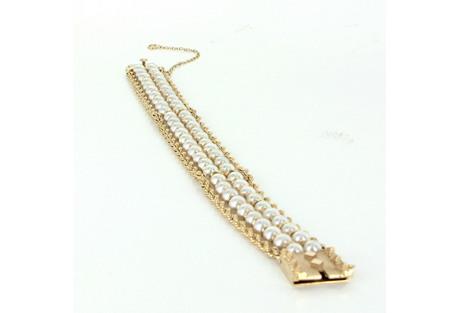 14K Gold & Cultured Pearl Rope Bracelet