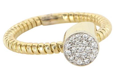 Retro Pavé Diamond 14K Cocktail Ring