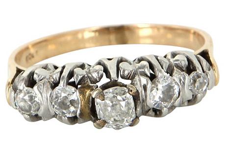Cushion-Cut Diamonds Anniversary Ring