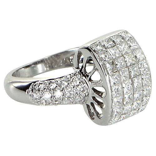 Diamond Dome Cocktail Ring