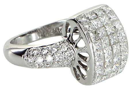 Diamond Dome Cocktail Ring