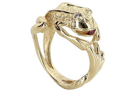 Frog Wrap Ring 14k Gold