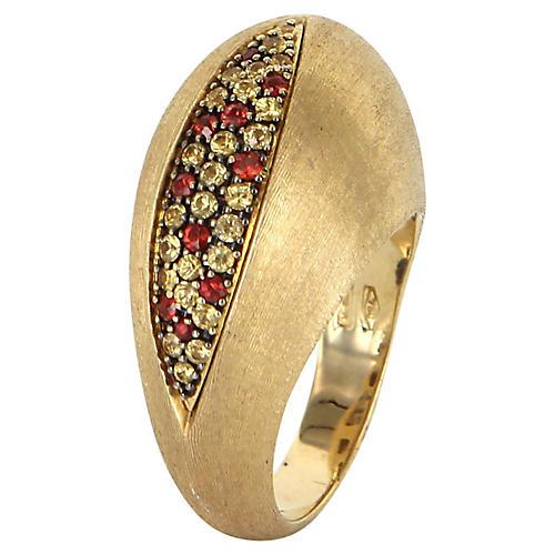 Nanis Citrine Garnet 18k Ring