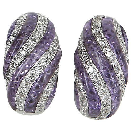 Diamond Shrimp Earrings
