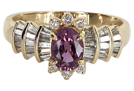 Pink Sapphire Diamond Cocktail Ring