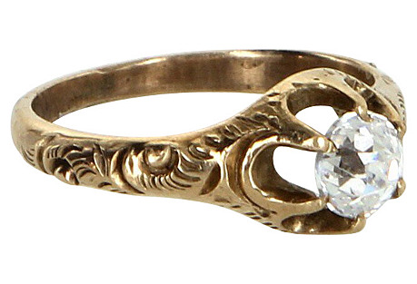 Victorian Mine Cut Paste Ring