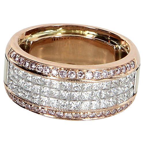 Simon G Pink Diamond Caviar Ring
