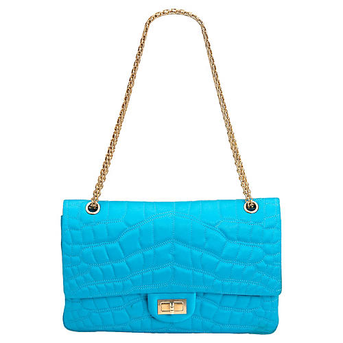 Chanel Satin Turquoise Reissue Flap Bag