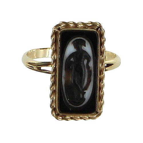Art Deco Cameo Ring 14k Gold