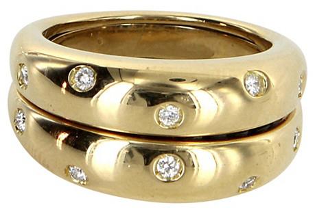 18k Gold Secret Sapphire & Diamond Ring