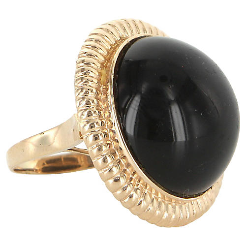 14K Gold & Onyx Cocktail Ring