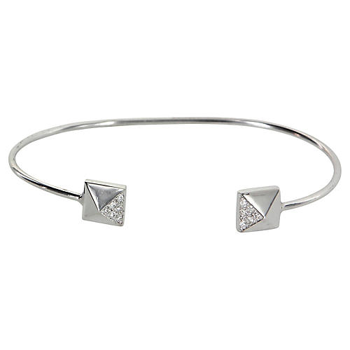 Pyramid Diamond Cuff Bracelet