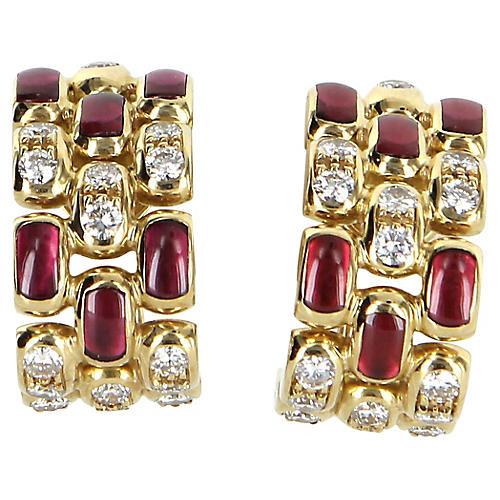 Chopard Diamond & Ruby Earrings