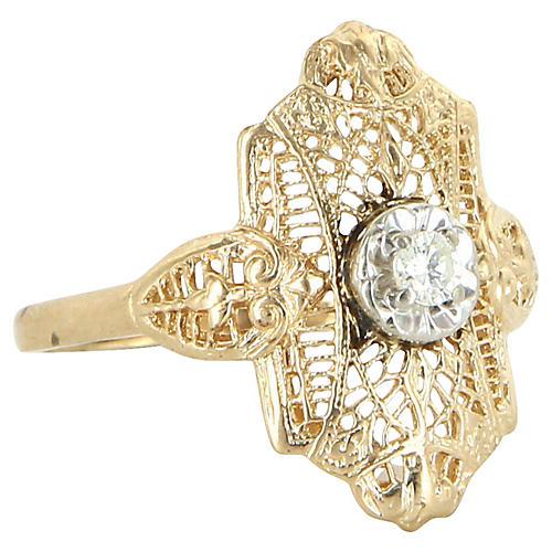 Diamond Filigree Cocktail Ring