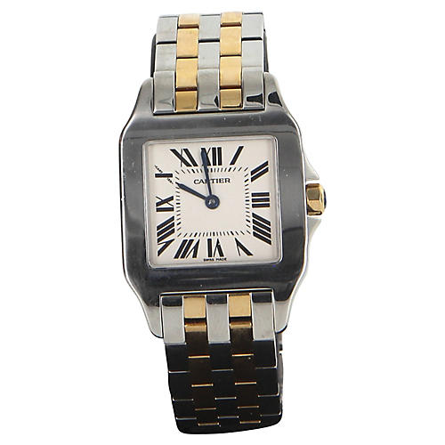 Cartier Santos Demoiselle Gold SS Watch
