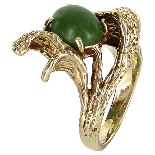 Jadeite Jade Nugget Ring 14k Gold